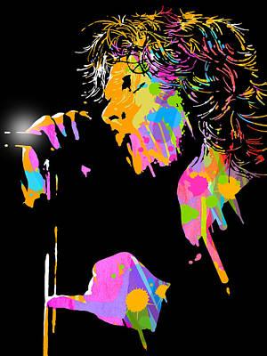 Jim Morrison Print by Paul Sachtleben