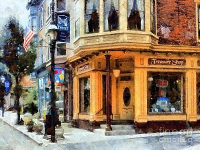 The Main Photograph - Jim Thorpe Pa - Treasure Shop - On Broadway by Janine Riley