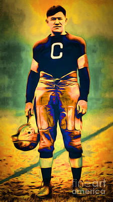 Jim Thorpe Vintage Football 20151220long Print by Wingsdomain Art and Photography