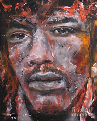 Morrison Painting - Jimi Hendrix Manic Depression by Eric Dee