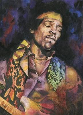 Jimmy Hendrix Painting - Jimi Hendrix by Nate Michaels