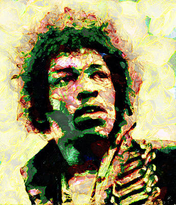Van Halen Painting - Jimi Hendrix by Riccardo Zullian