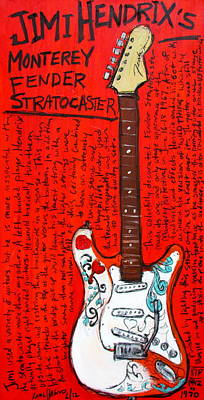 Jimi Hendrix's Monterey Strat Print by Karl Haglund