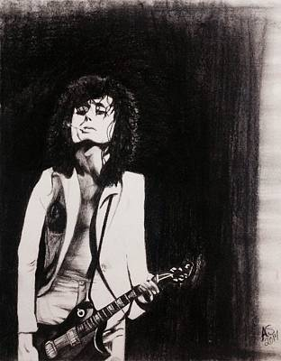Jimmy Page Drawing - Jimmy by Ashley Sullivan