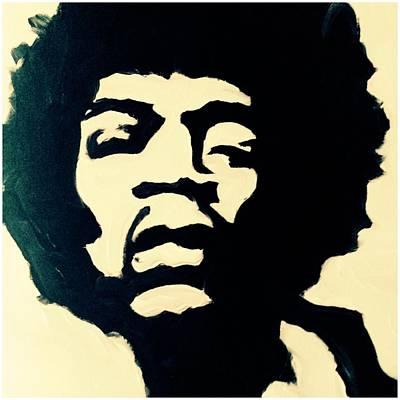 Jimmy Hendrix Painting - Jimmy Hendrix by Erin Salazar