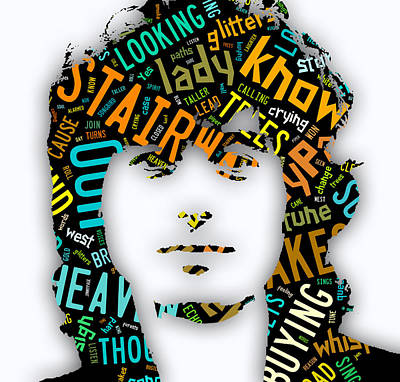 Jimmy Page Mixed Media - Jimmy Page Stairway To Heaven by Marvin Blaine