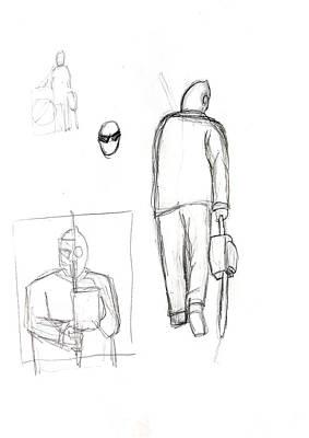 Dark Evil Scary Drawing - Jjr Comic Cover Skizze B By Typhoonart by Joerg Federmann Typhoonart