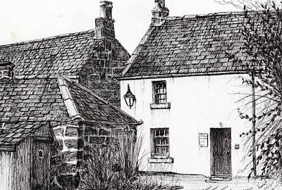 Pen And Ink Drawing Drawing - Jm Barrie's Birthplace by Vincent Alexander Booth