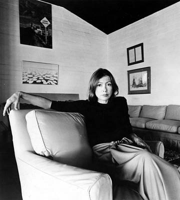 Photograph - Joan Didion, Circa 1977 by Everett