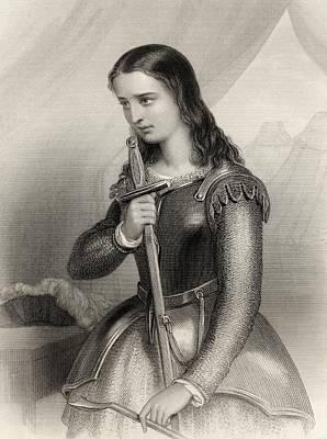 Impression Drawing - Joan Of Arc, 1412-1431 Aka Jeanne D Arc by Vintage Design Pics