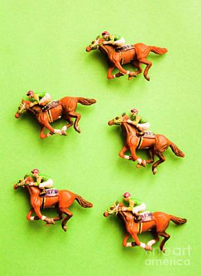 Jockeys And Horses Print by Jorgo Photography - Wall Art Gallery