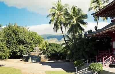 Jodo Shu Mission Lahaina Maui Hawaii Print by Sharon Mau