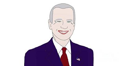 Joe Biden Drawing - Joe Biden by Priscilla Wolfe