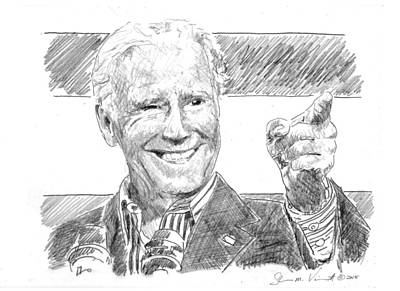 Joe Biden Drawing - Joe Biden by Shawn Vincelette