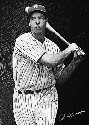 Babe Ruth Digital Art - Joe Dimaggio by Taylan Apukovska