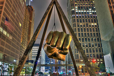 Joe Louis Fist Detroit Mi Print by Nicholas  Grunas