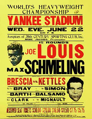 Yankee Stadium Digital Art - Joe Louis Vs Max Schmeling by Bill Cannon