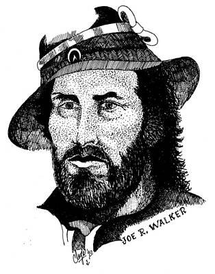 Joe R. Walker Painting Print by Clayton Cannaday