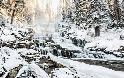 Joffre Creek Waterfall Print by Ian Stotesbury