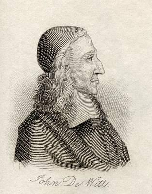 Johan De Witt 1625-1672 Dutch Statesman Print by Vintage Design Pics