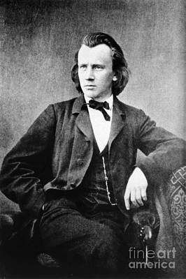 Brahms Photograph - Johannes Brahms, German Composer by Omikron