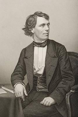 Orator Drawing - John Batholomew Gough, 1817-1886 by Vintage Design Pics