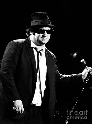 Perform Photograph - John Belushi 1980 In Blues Brothers by Chris Walter