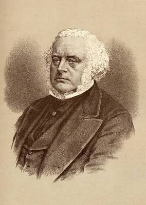 Orator Drawing - John Bright, 1811-1889. British by Vintage Design Pics