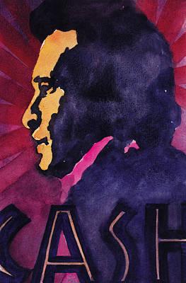 Johnny Cash Painting - John Cash 3 by Chuck Creasy