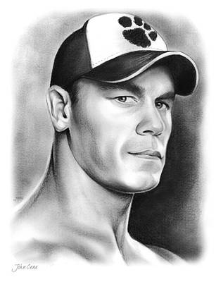 Wishes Drawing - John Cena by Greg Joens