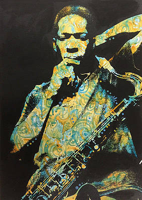 Painting - John Coltrane by Dean Russo