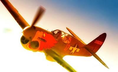 Parrotheads Photograph - John Curtiss Paul And Curtiss P-40 Warhawk Parrothead by Gus McCrea