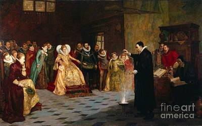 Dee Painting - John Dee Performing by Henry Gillard