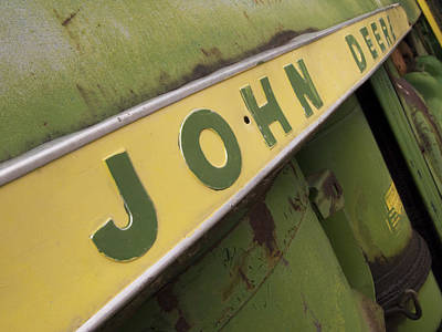 Tractor Photograph - John Deere by Jeff Ball