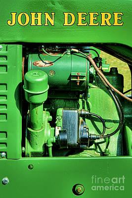 John Deere Tractor Engine Detail Print by Olivier Le Queinec