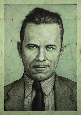 Depression Painting - John Dillinger by James W Johnson