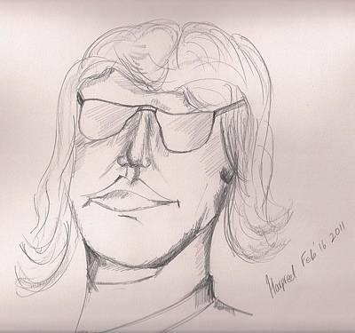 Elton John Drawing - John E by Harpreet Singh