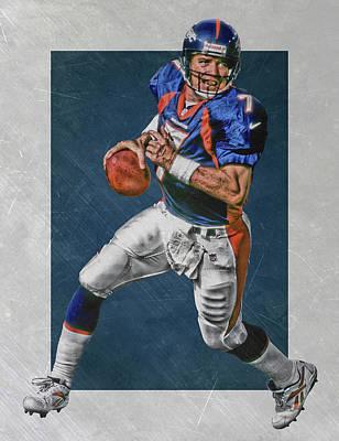 John Elway Denver Broncos Art Print by Joe Hamilton