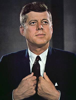 Lapel Photograph - John F Kennedy by American School