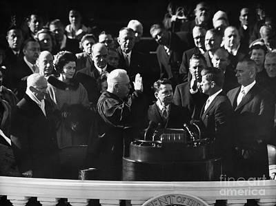 Inauguration Photograph - John F. Kennedy by Granger