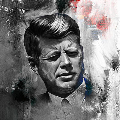 America First Party Painting - John F. Kennedy by Gull G