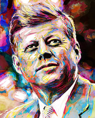 Inaugural Painting - John F Kennedy Painting  by Pat Spark