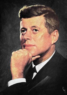 John F Kennedy Print by Taylan Apukovska