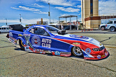 Photograph - John Force Aaa Camaro Racer by Tommy Anderson