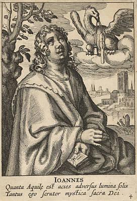 Drawing - John From The Four Evangelists by Pieter Feddes van Harlingen