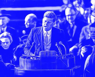 John Mixed Media - John Ftzgerald Kennedy by Marvin Blaine