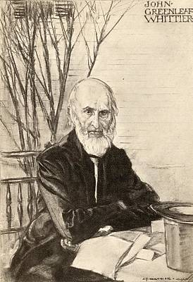 John Greenleaf Whittier 1807-1892 Print by Vintage Design Pics