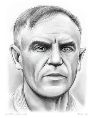 Harvard Drawing - John Heisman by Greg Joens