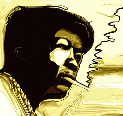 John Lee Hooker Print by Jeff DOttavio