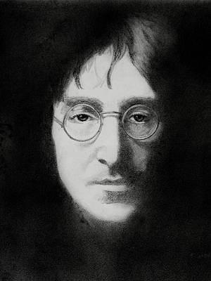 John Lennon Drawing - John Lennon 2 by Glenn Daniels